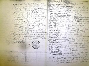 Requête autographe de Philippe Hovyn et apostille favorable du Magistrat de Comines (1719) - Archives municipales de Comines-F, B-44.