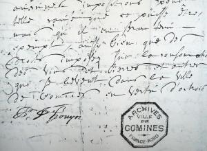Fin de la requête et signature de Philippe Hovyn (mars 1719)